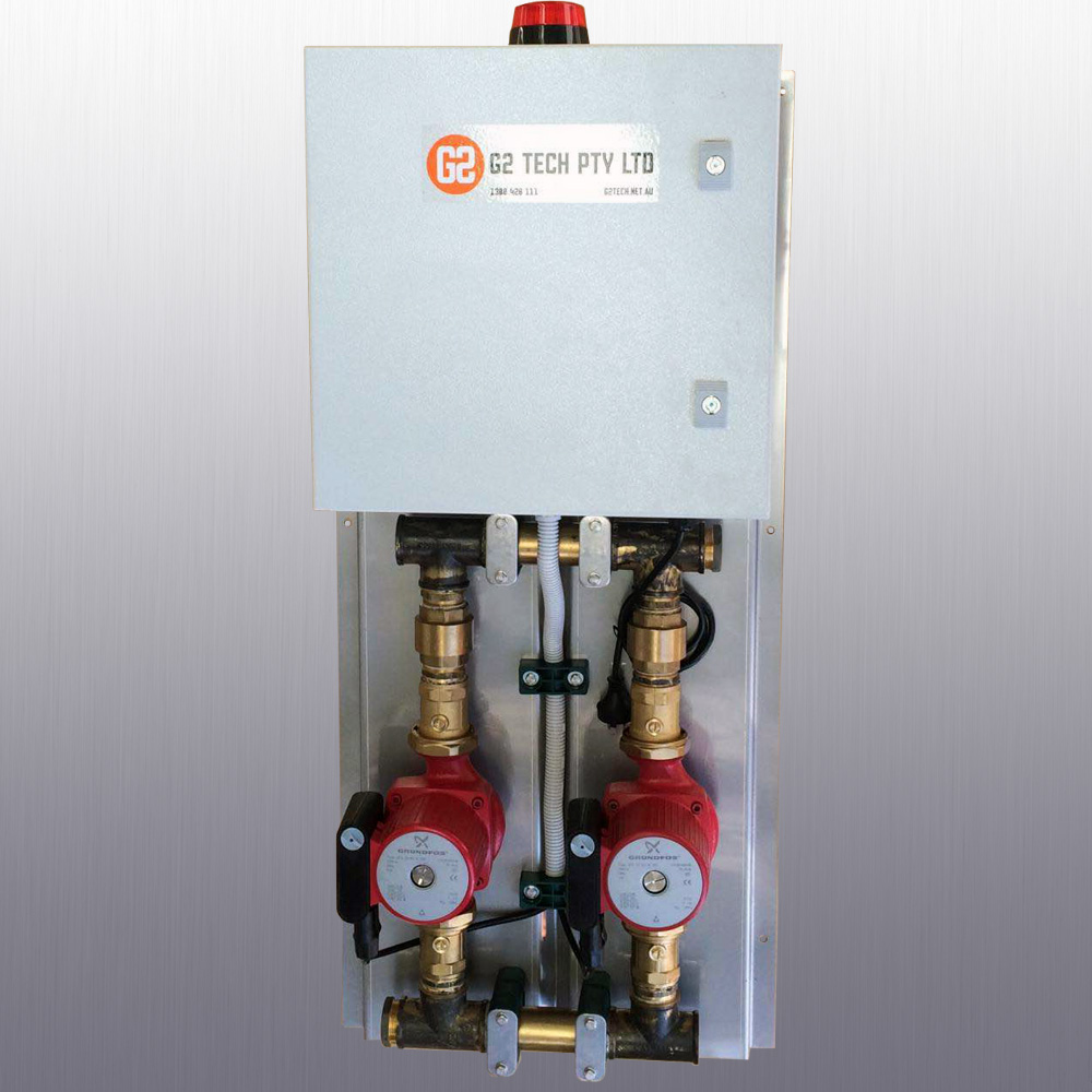 G2 TECH Commercial hot water dual ring main circulators 32-80N