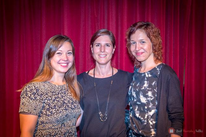 Die Organisatorinnen Jlona Troll, Marika Buratti und Sybille Trenk strahlen in die Kamera...