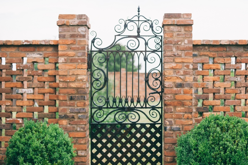 metal scroll entrance gate