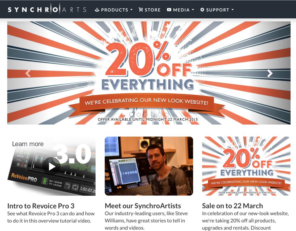 Synchro Arts Web Site 2015