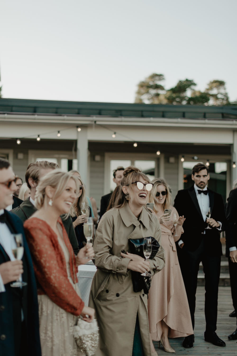 Chic wedding guests