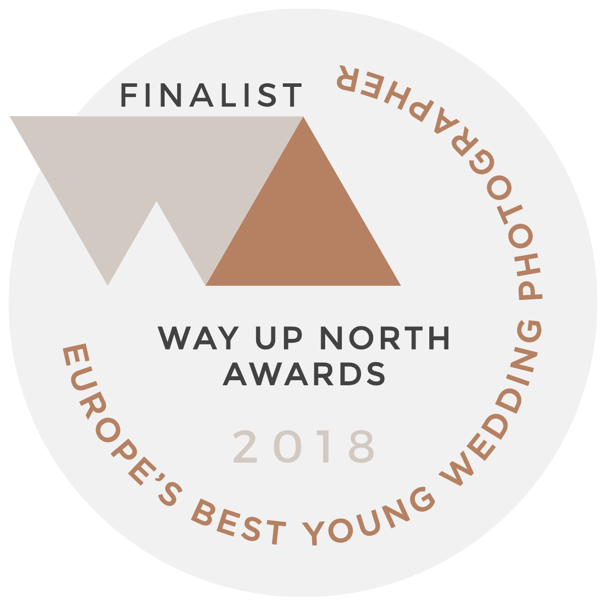 Way Up North Awards 'Europes Best Young Wedding Photographer' Finalist 2018