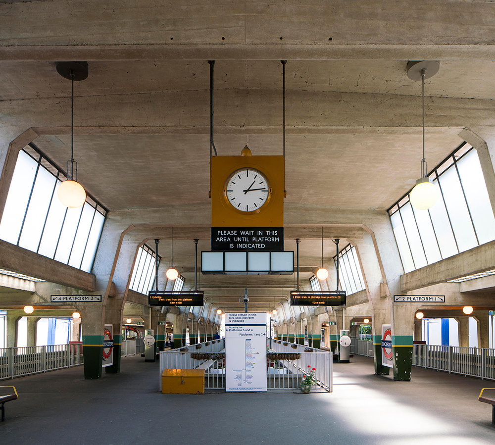 COCKFOSTERS / PICCADILLY LINE / ARCHITECT: CHARLES HOLDEN