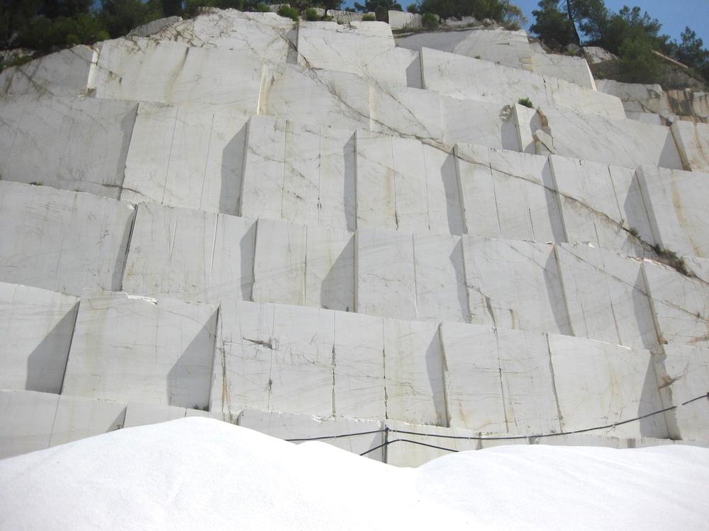 Thassos marmer groeve