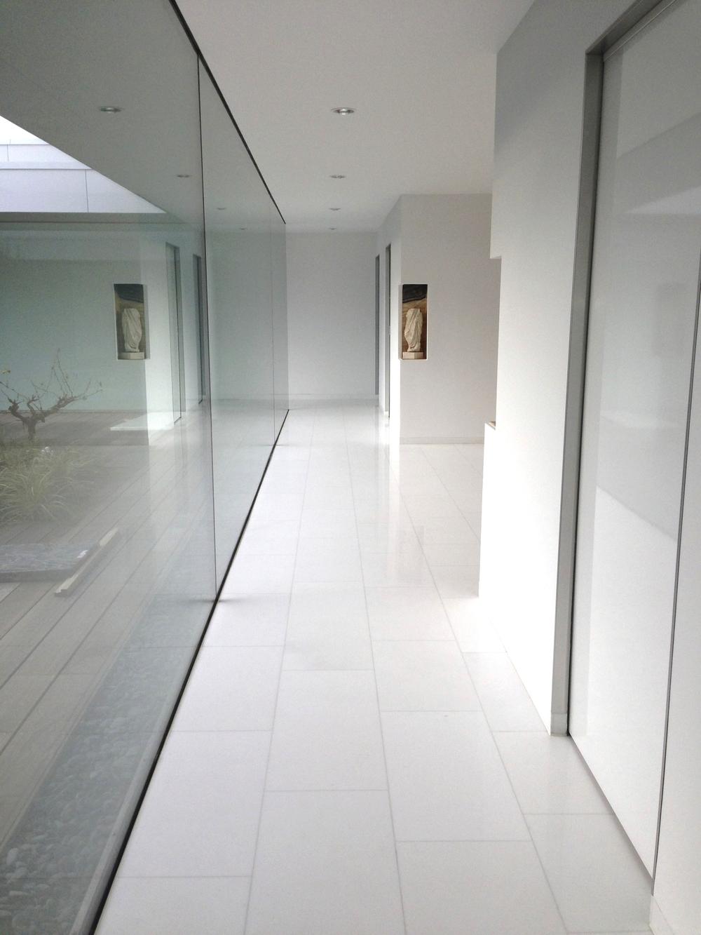 Thassos marmer vloertegels in particuliere villa