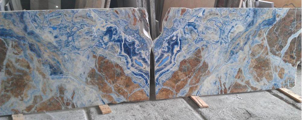 Blauw Marmer by AMC - voor vloer of wand en zelfs voor meubelen.
