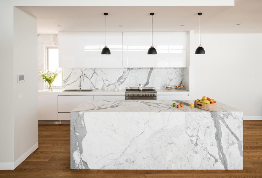 Witte Keuken Grijs Blad : Quartz Counter