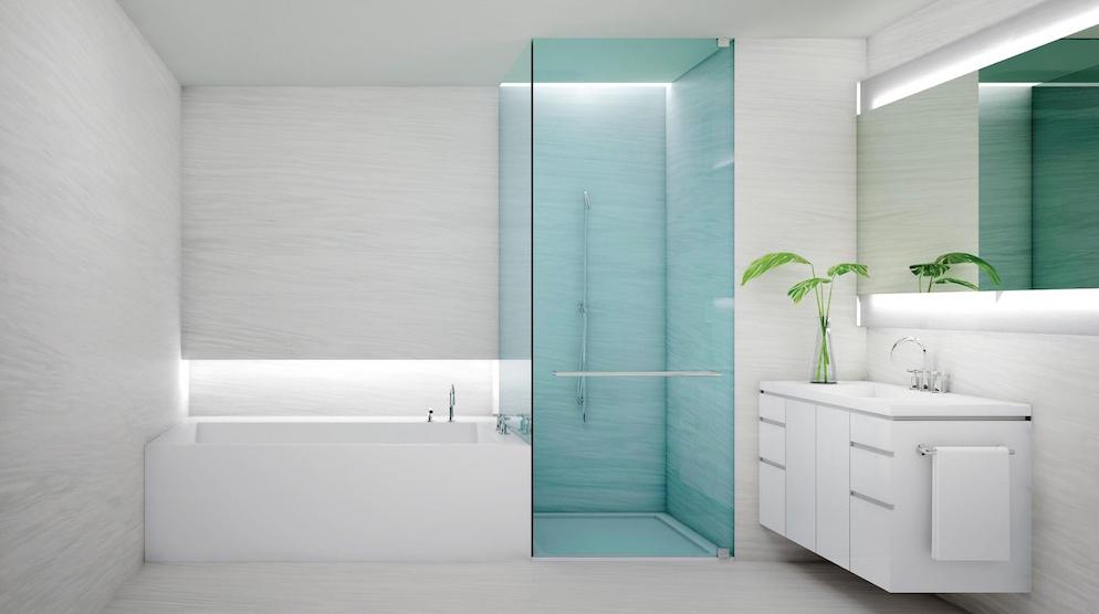 "Vermion White geeft deze badkamer de elegante ""touch"""
