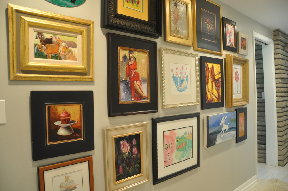 Anthony's father was an art collector for years, and has begun dispersing the pieces amongst his children. The galleries around Patti & Anthony's home were all part of his father's collection.