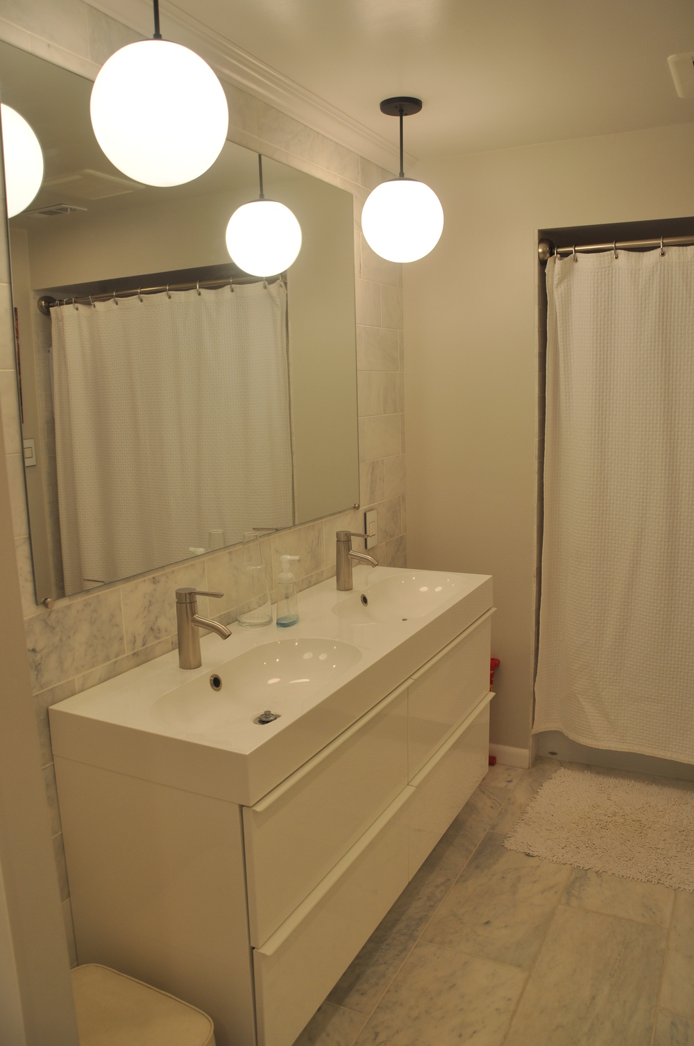 The basement bathroom.