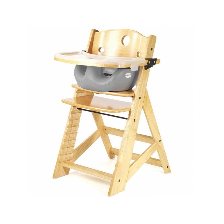 Keekaroo Height Right High Chair with Infant Insert - adjustable parts so that it holds babies as small as six months, and adults as large as 250 lbs! This will grow into our household.