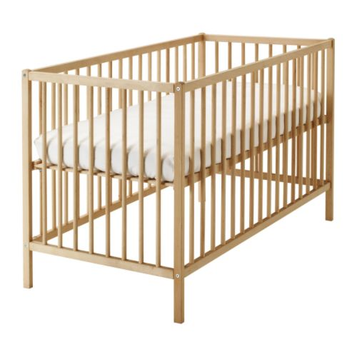 IKEA Sniglar Crib  - what a price point, and I happen to be a sucker for the simple, clean lines of this solid beech crib (a crib that - wait for it - grows with baby).