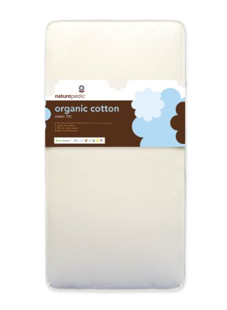 Naturepedic No Compromise Organic Cotton Classic Crib Mattress  - many an hour will be spent on this pad, so top quality matters to me. Of all the organic mattresses, this one seems to come up most frequently in my browsings. It's the Mother Ship.