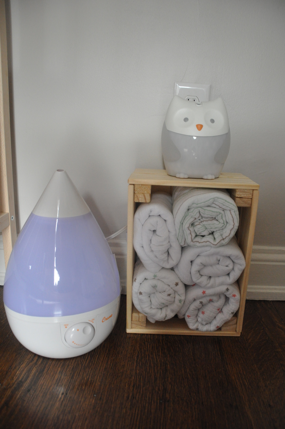I love this  owl nightlight/sound machine  - as I've mentioned in a  previous blog  - and every mama I know swears by Aden & Anais linens.