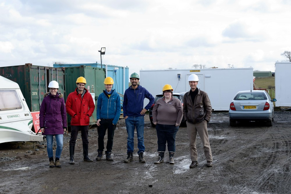The Scene Consulting team visit the site with Lesmahagow Trustee, Liz Montgomery (March 13th)