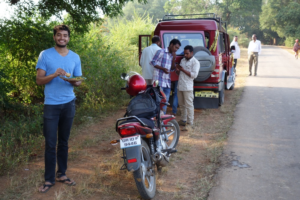 Abhi at a well deserved rest stop.