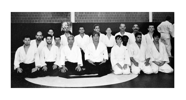 USA  •  Doshu  //  Yamada Sensei  /  /   Anne   //   Kim   //   Doug F.   //   Slivie   // Greg   //  Jaime  //  Luis  //   Luke //  David B.  //  David K.  //  Chris - 2000