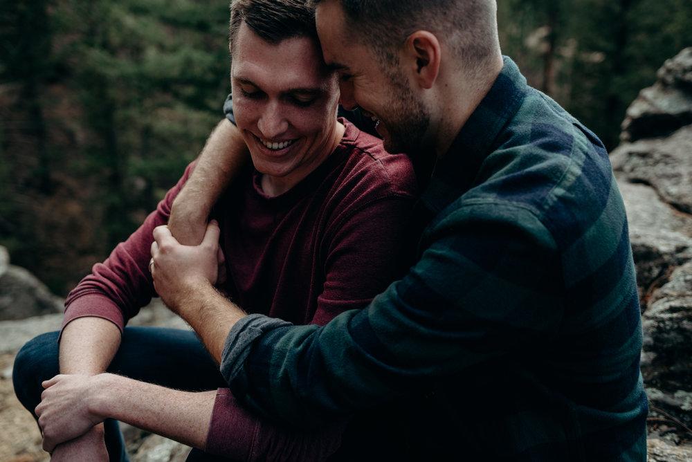 Couples session photographed by Dana Jensen in Estes Park, Colorado.