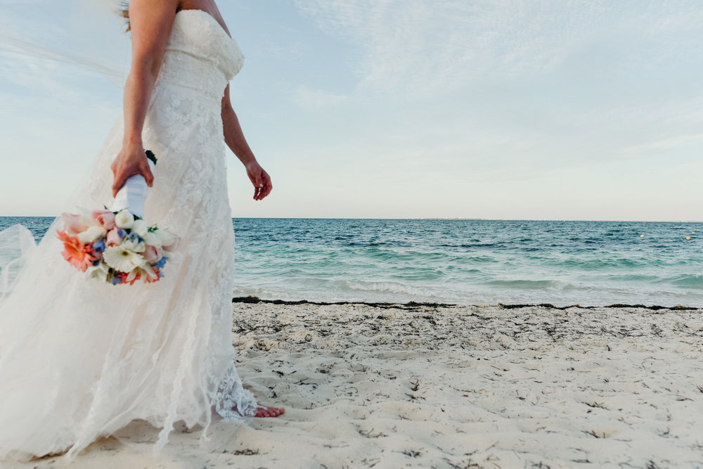 Destination wedding photography in Tulum, Mexico by Dana Jensen
