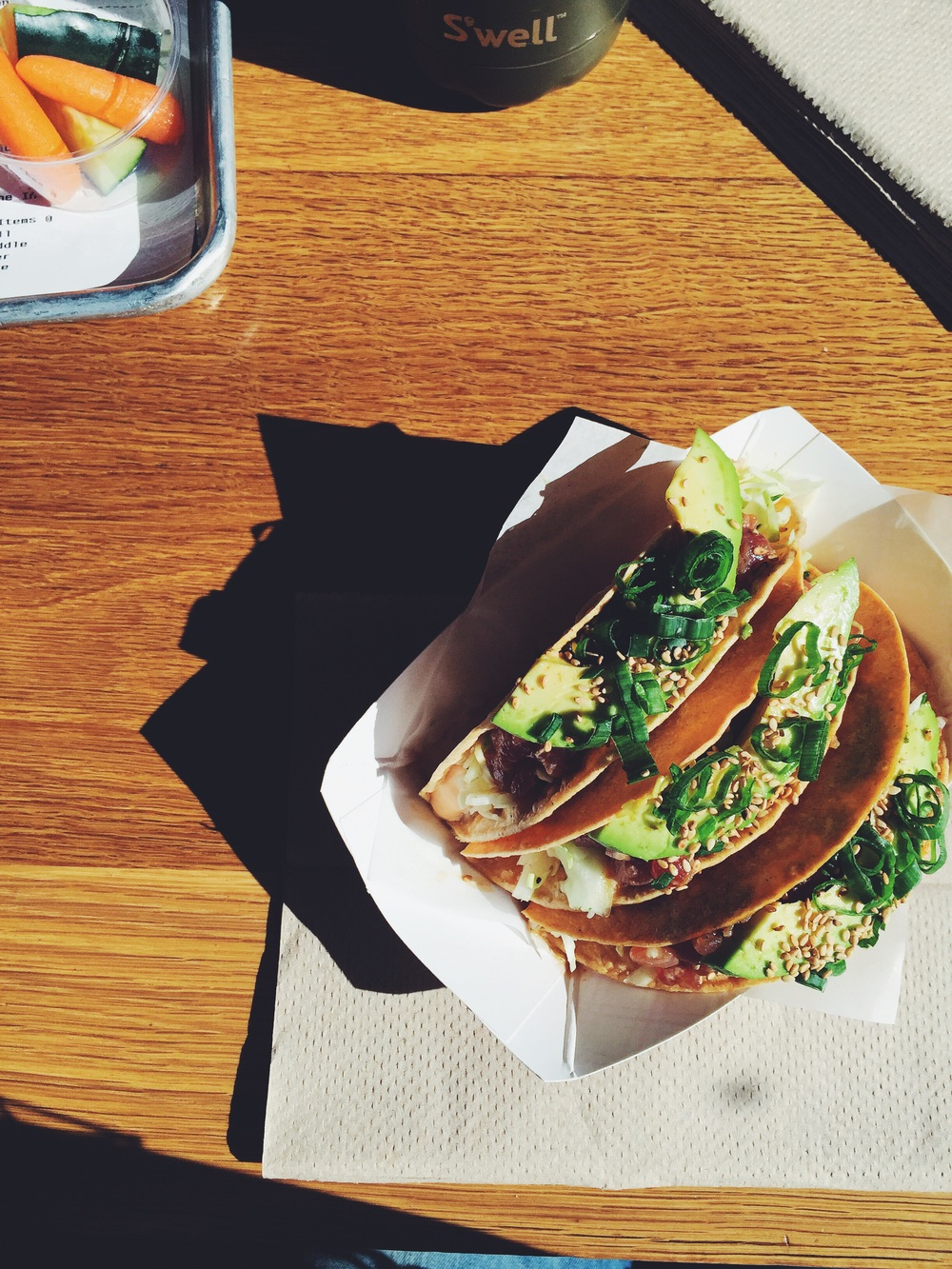 Ahi tacos from Gott's Roadside