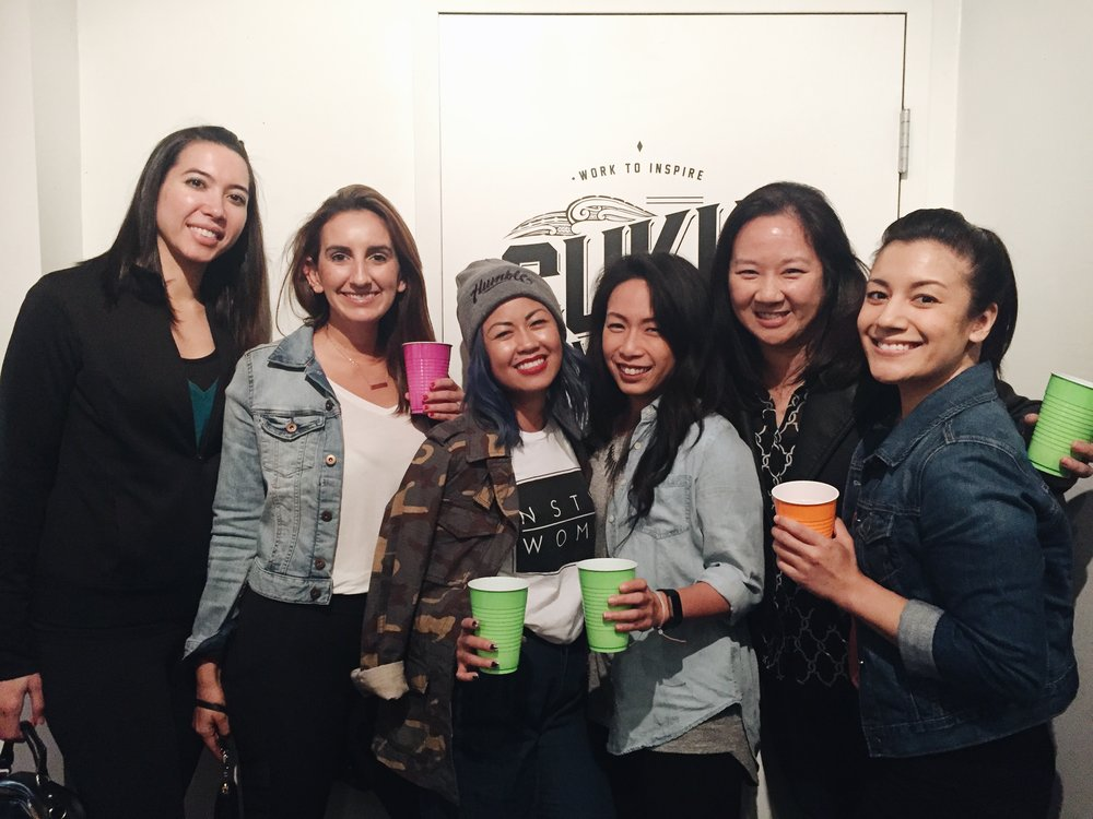 Some of my fitness sisters came out to meet me. Love these girls: @bbghapa, @bbg_yogicass, @hellowigglefy, @munfung.bbg @elle_active. (not BCCAs in our cups)