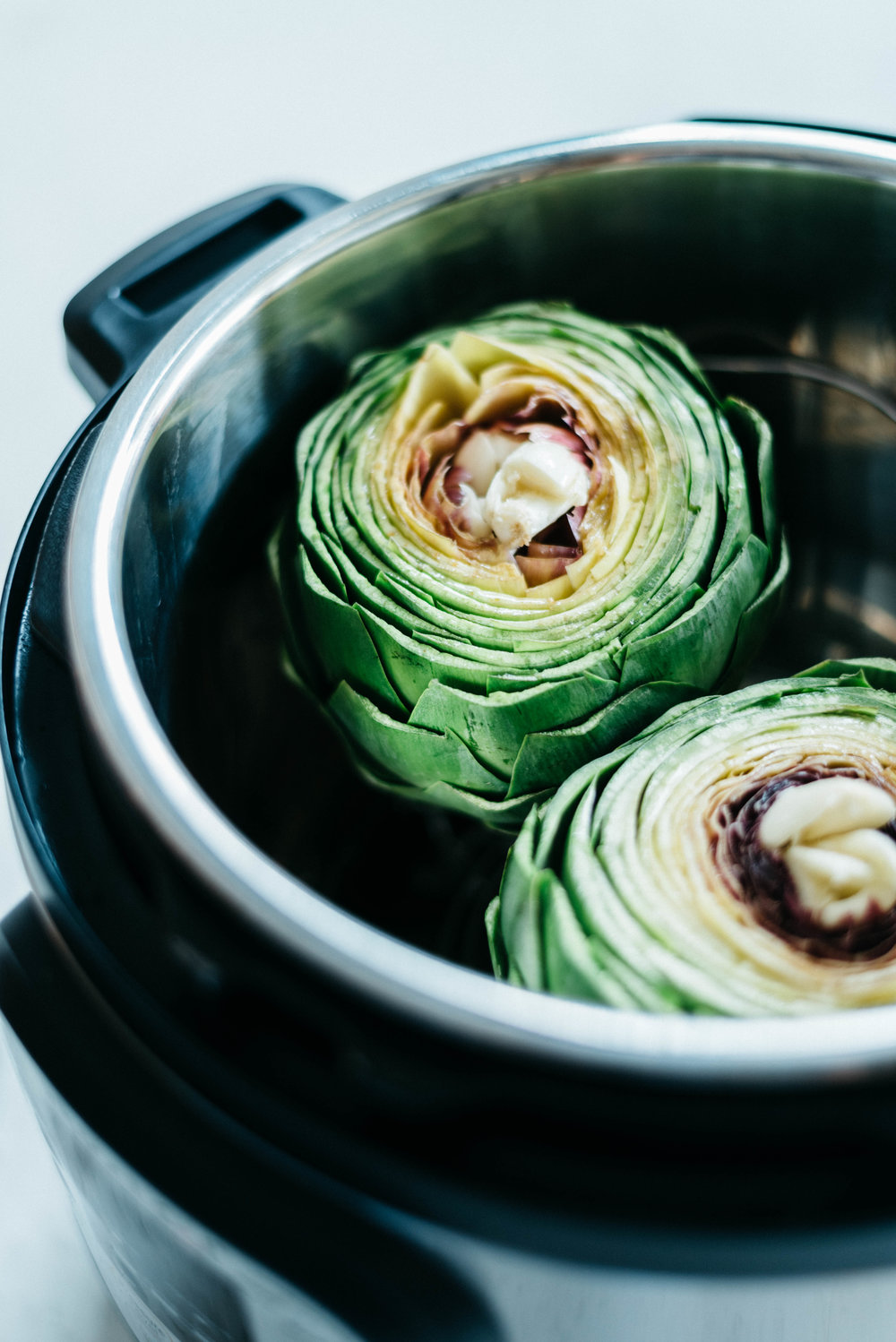 Instant Pot Steamed Artichokes - with Mandarin Garlic Aioli