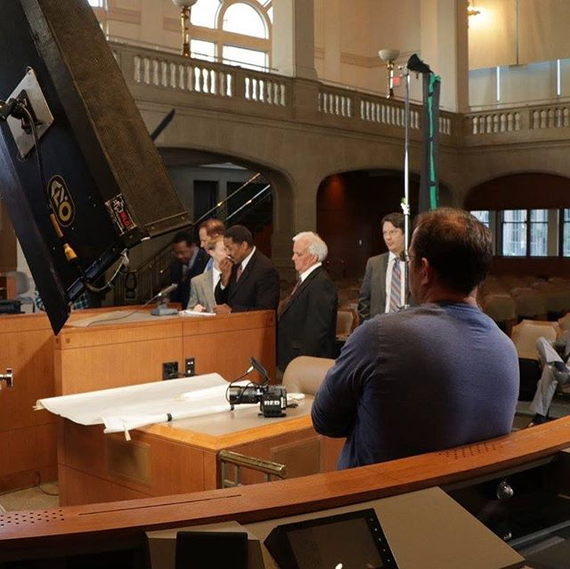 A little #BTS action on @thechallengerdisaster_movie as we filmed in @filmsanantonio own council chambers. Such a great day on set. Score one for the home team and pick up your copy on iTunes Amazon or in person at @walmart. Like, any Walmart, anywhere.
