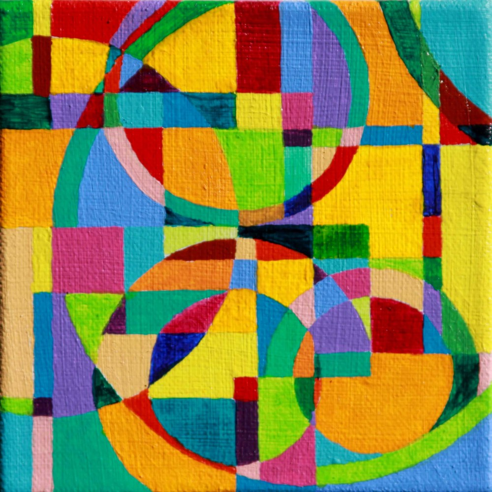 """Refraction 1 Acrylic paint on canvas 5"""" x 5"""" 2011"""