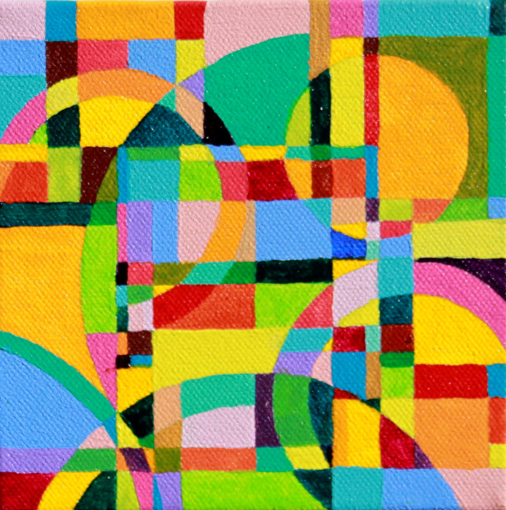 """Refraction 2 Acrylic paint on canvas 5"""" x 5"""" 2011"""