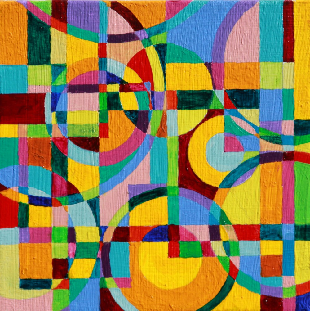 """Refraction 3 Acrylic paint on canvas 5"""" x 5"""" 2011"""