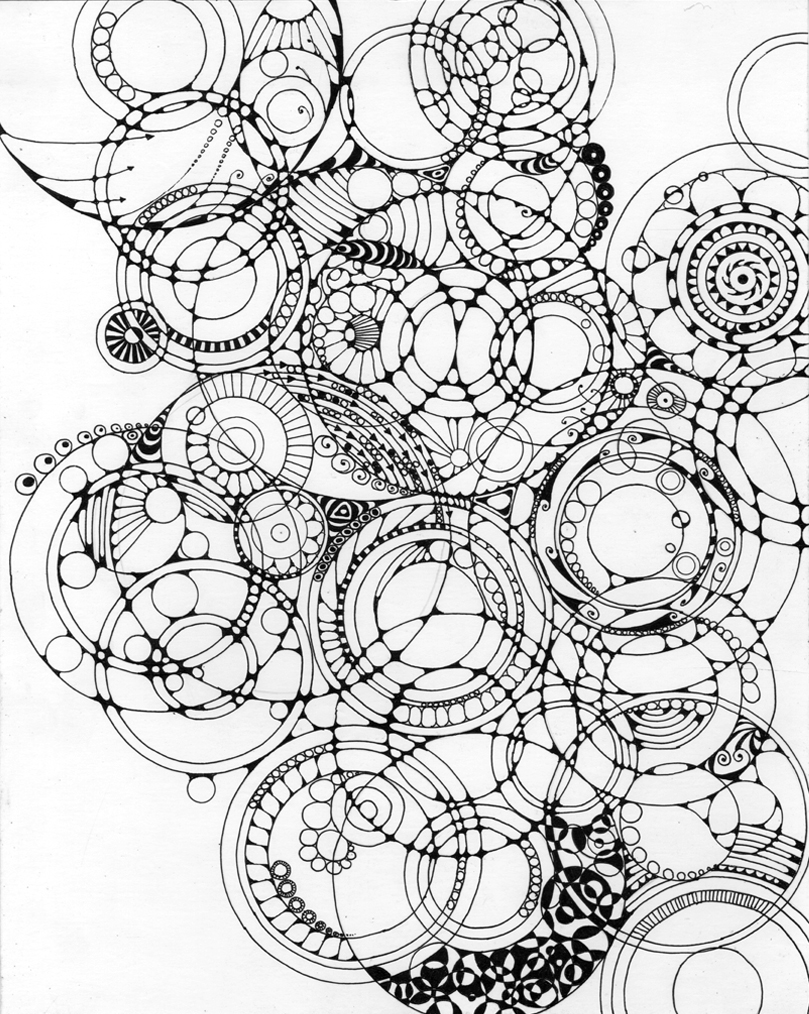 "Circle Lattice Ink on paper 11"" x 14"" 2013"
