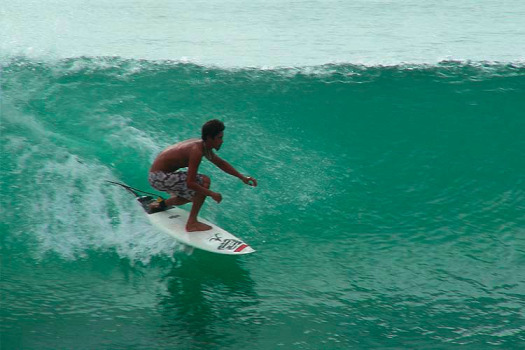 Tigre Surf Lessons - find them at beach entrance on Calle Marlin