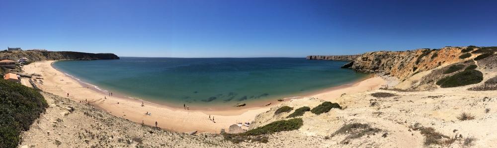 View ofPraia do Mareta and Ponta de Sagres.