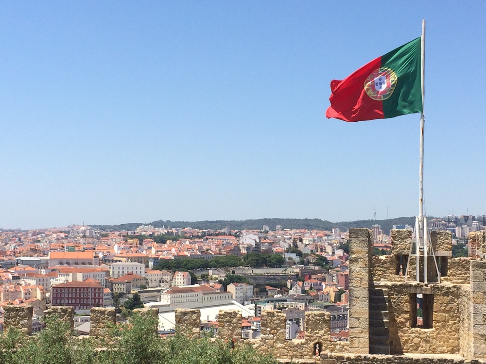 View from the top of the Castelo de São Jorge.
