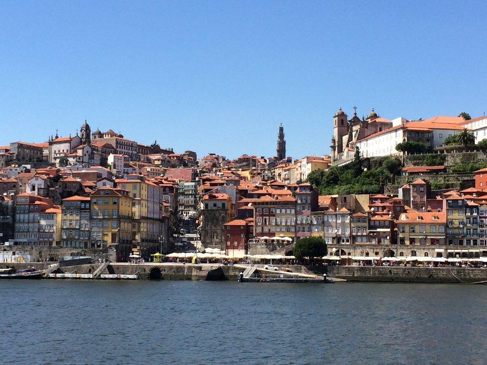 View of Porto from across the Douro River in Gaia.