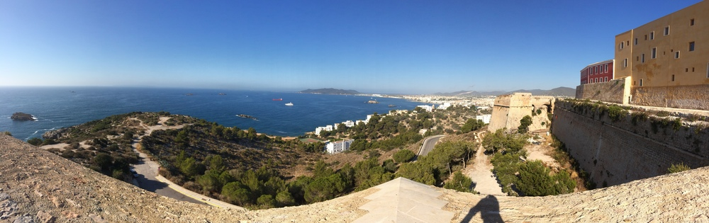 View of the water from the top of Dalt Vila.