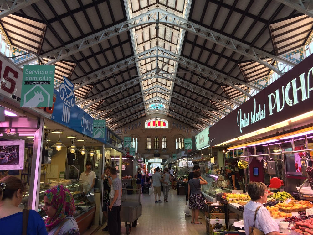 The enormousMercado Central is a great place to buy food for the day.