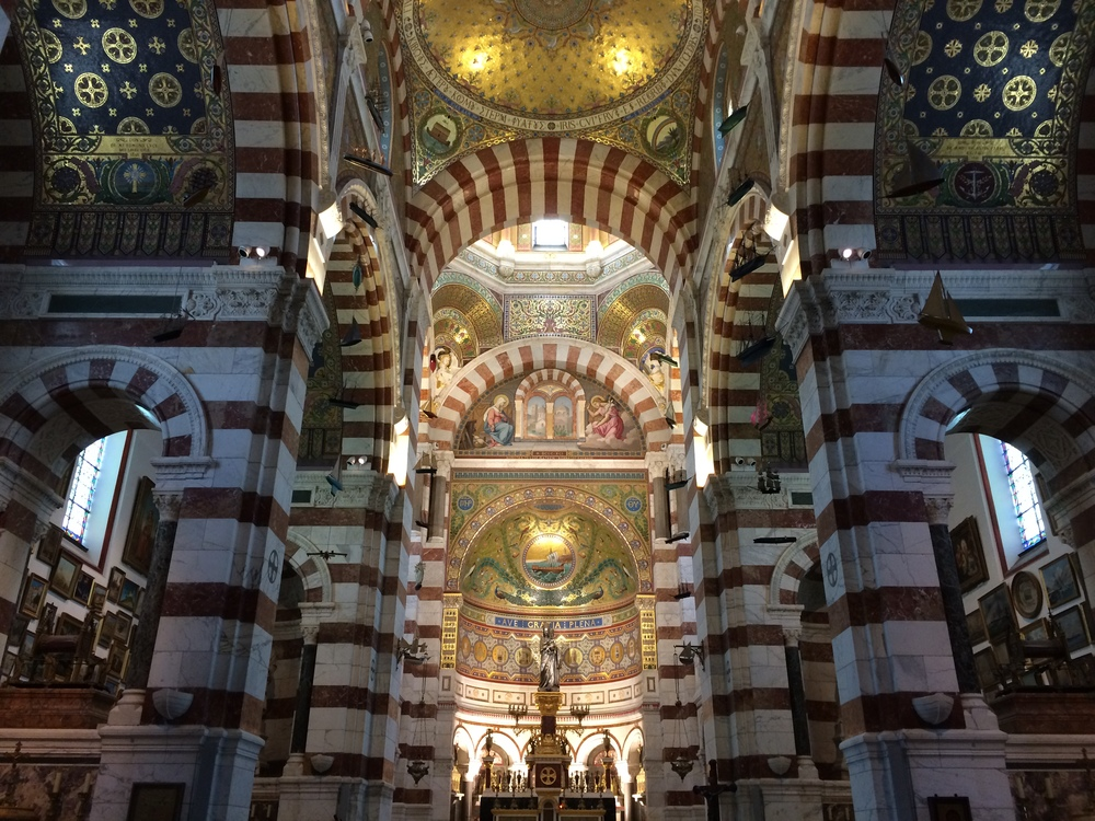 The interior of Notre-Dame de la Garde.