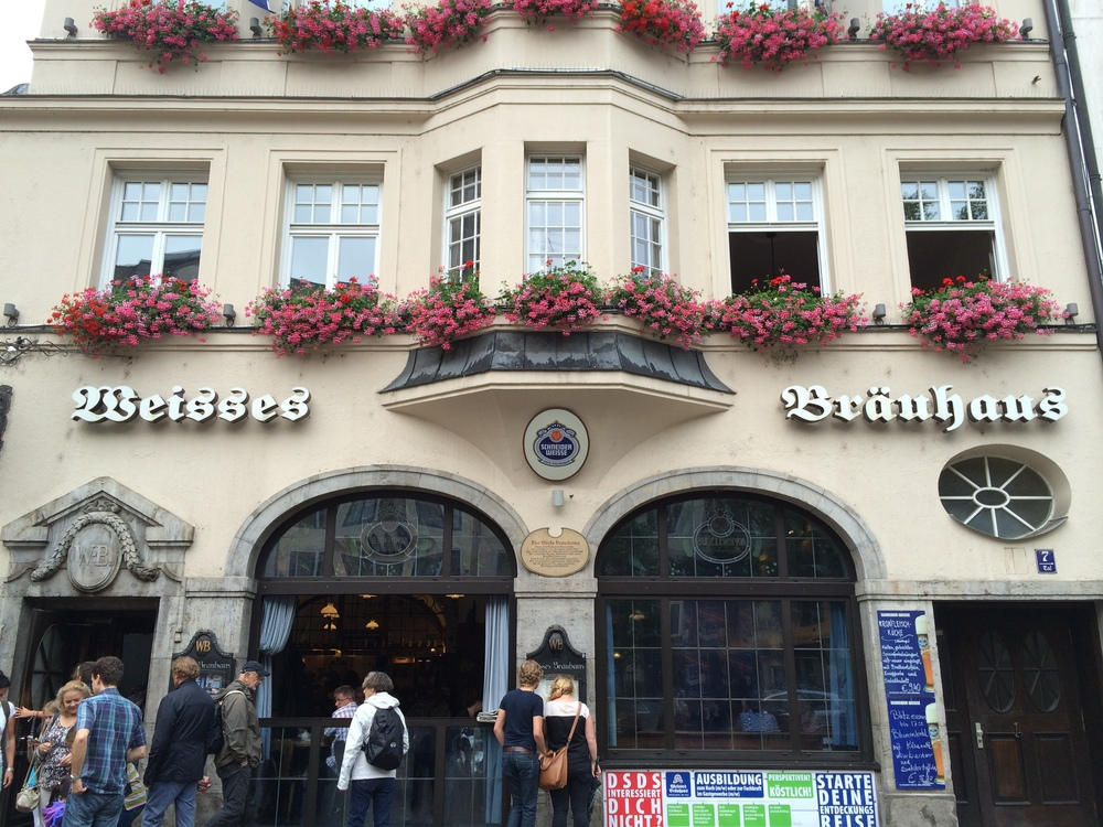 My sanctuary for the day, Weisses Bräuhaus.