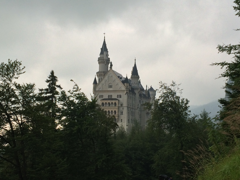 View of Neuschwanstein Castle on my walk up.