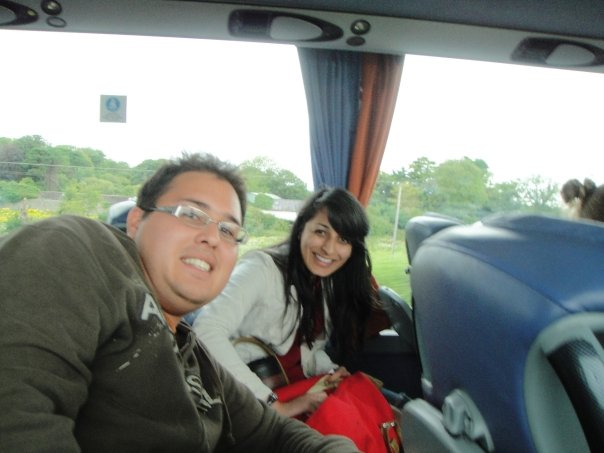 The first picture I took in Dublin on the bus from the airport with Andrei and Sweta. My god how things have changed since then... (August 2009)