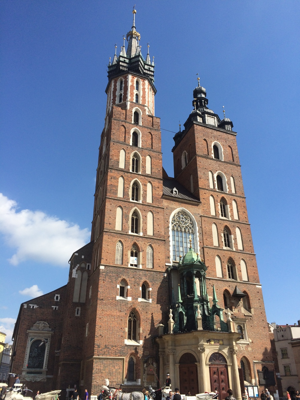 St. Mary's Basilica in old town Krakow.