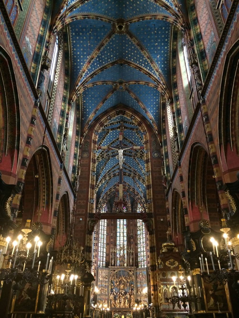 Interior of the St. Mary's Basilica... just beautiful!