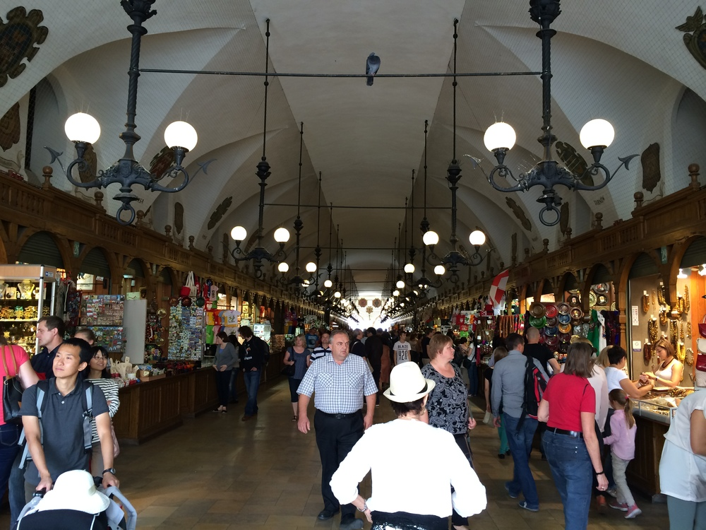 Interior of the old Cloth Market in the main square.