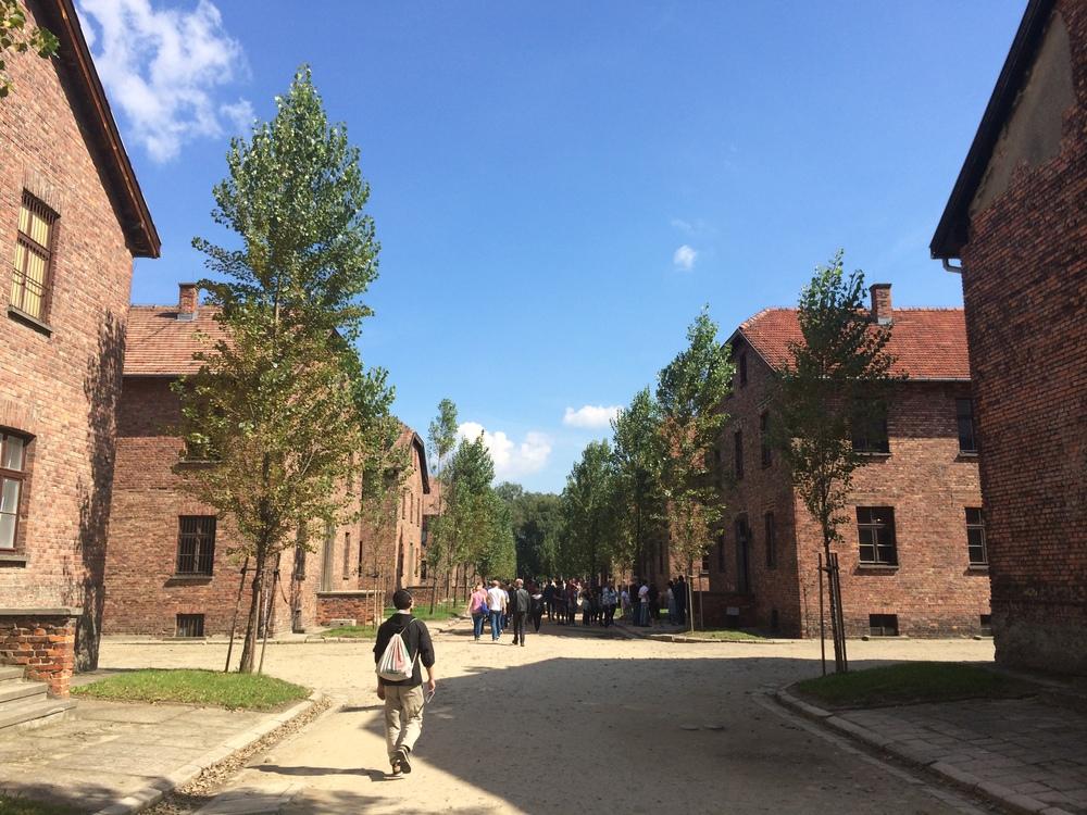 The walkways through Auschwitz I.