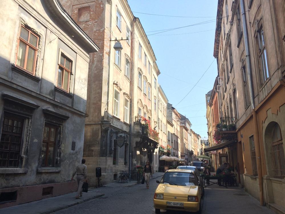 The streets of Lviv, Ukraine.