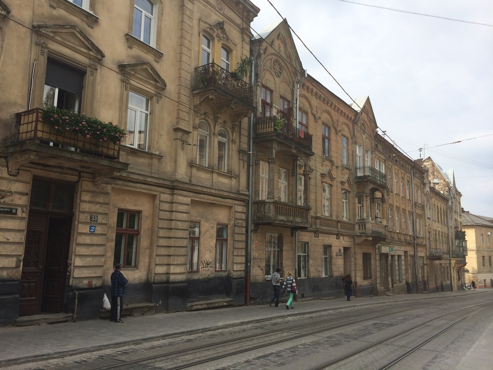 The quiet, serene streets of Lviv. With just a short walk from the city center you can feel like you're part of Lviv.