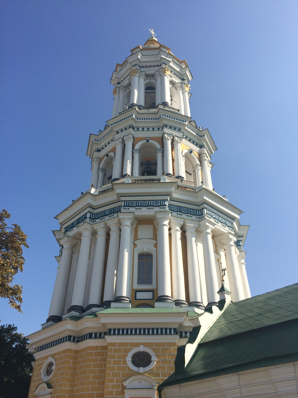 View of the Great Lavra Belltower in the Kiev Cave Monastery.