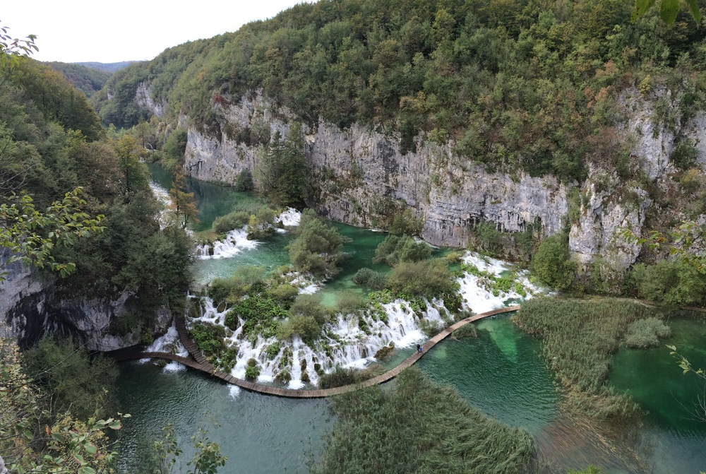 Even with all the clouds and tourists, the Plitvice Lakes are gorgeous!