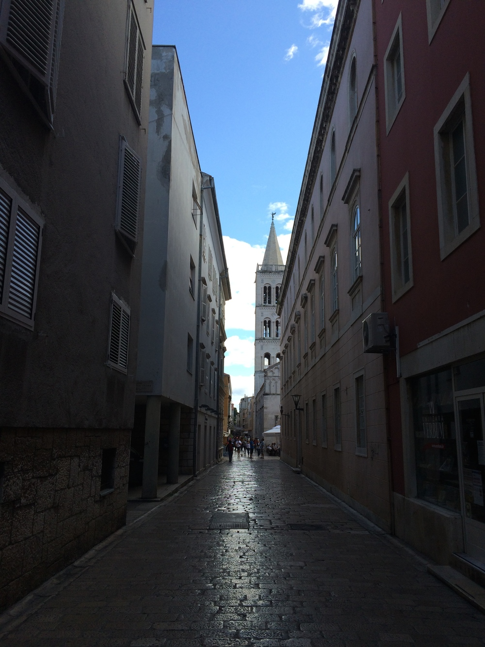 The streets of old town Zadar.